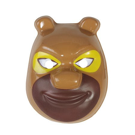 Halloween mask Bear Two Happy Gray Cartoon With ECO-friendly PVC Mask](Halloween 2 Economy Mask)