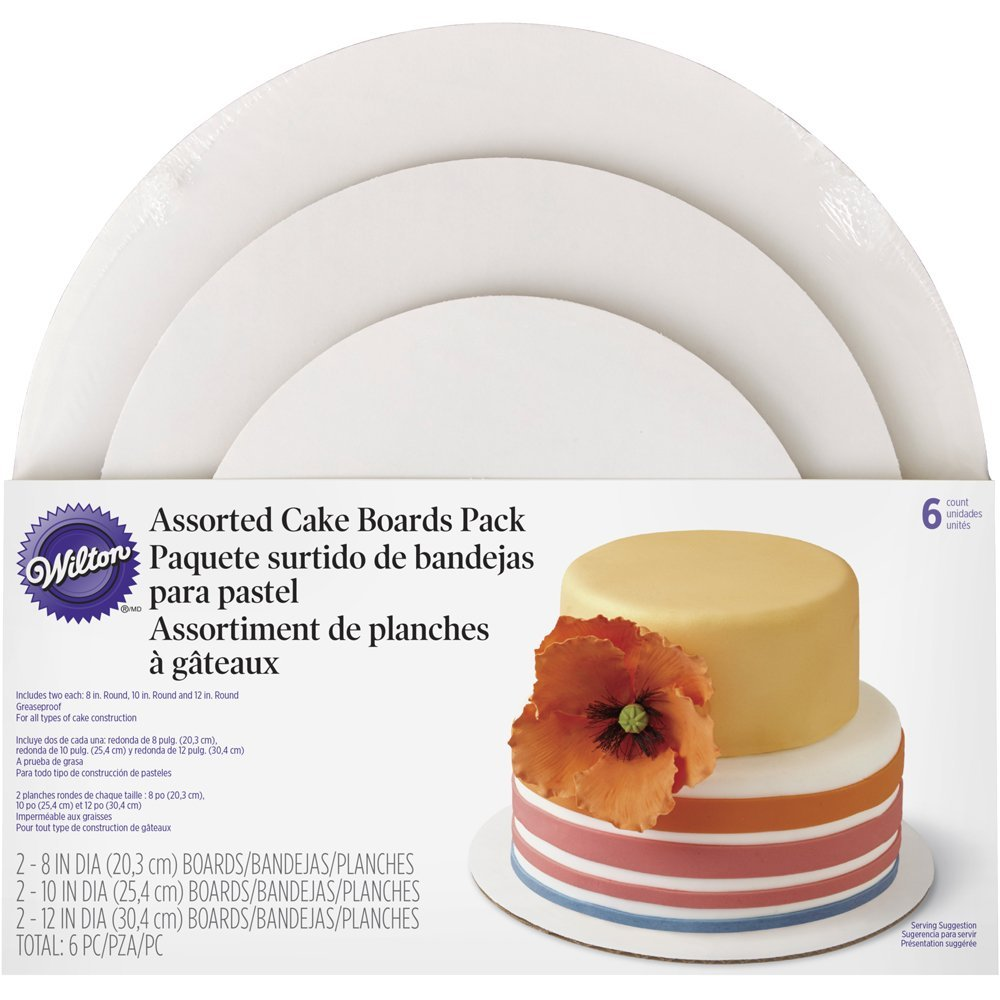 Wilton 2104-6066 3-Tier Assorted Cake Board Set, 15121675 Stand 3Tier Board Set Party 21046066 Assorted Cake Wilton Dots Treat By Wilton Enterprises