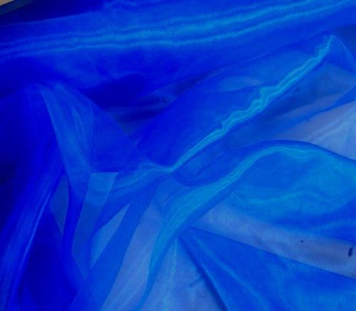 Blue 16 Pocket Square - Organza Fabric Roll 60