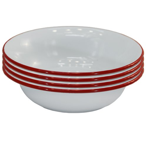 American Mercantile Cozy Cottage Enamelware Cereal Bowl (Set of 4)
