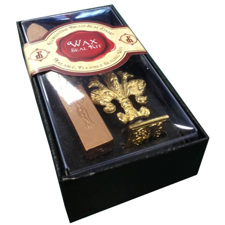 JAM Paper Wax Seal Set, Brass Seal Stamp with Monogram letter