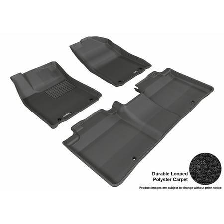 3D Maxpider 2013 2017 Lexus Es350 Front   Second Row Set All Weather Floor Liners In Black Carpet