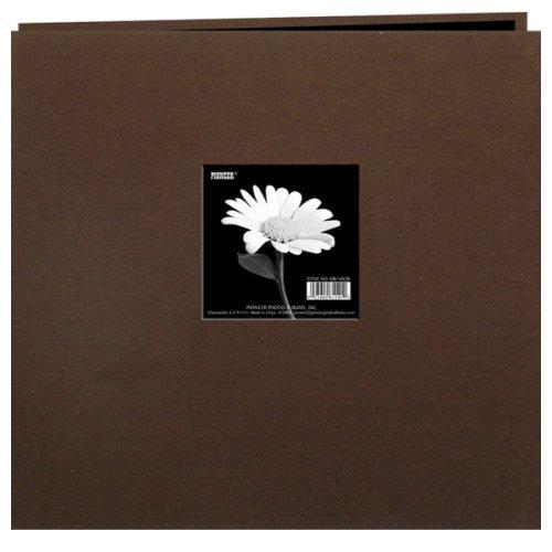 Pioneer Photo Albums MB10CBFE-CHBR Earth Tone Fabric Scrapbook 12X12 Chocolate Brown