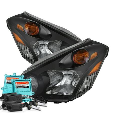 VIPMOTOZ Black Housing OE-Style Headlight Lamp Assembly For 2004-2009  Nissan Quest, Driver & Passenger Side