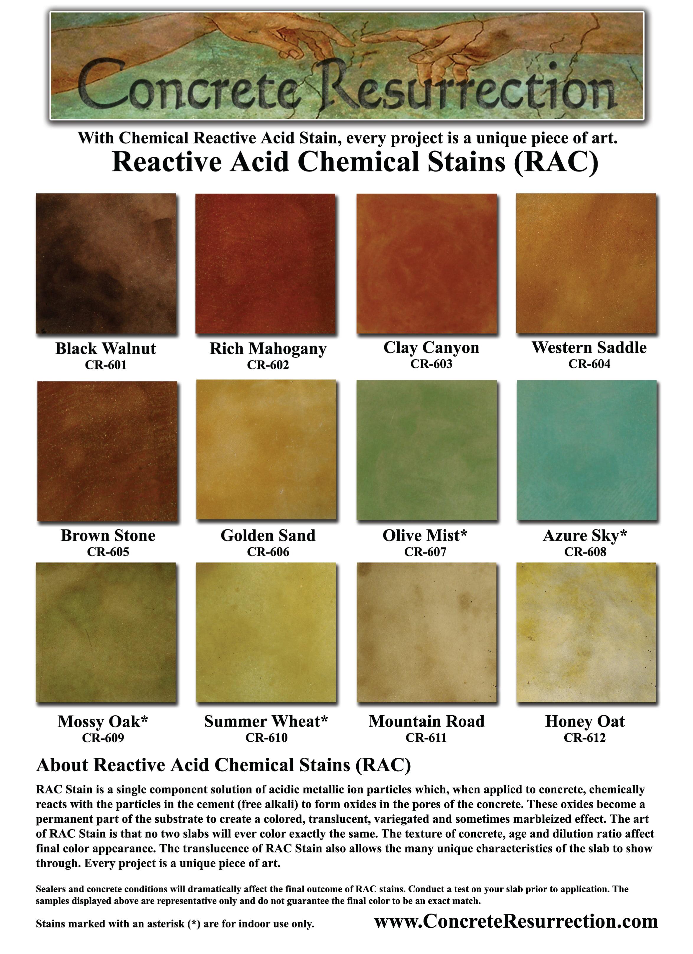 acid reactive concrete brown concrete brown resurrection stain stone
