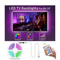 """Bason Led Strip Lights for 60-70"""" HDTV/Wall Mount TV, USB TV Led Backlight with Remote Control, 13.09ft Led Strips TV Bias Lighting for Entertainment Center Room Decorations Home Movie Theater."""