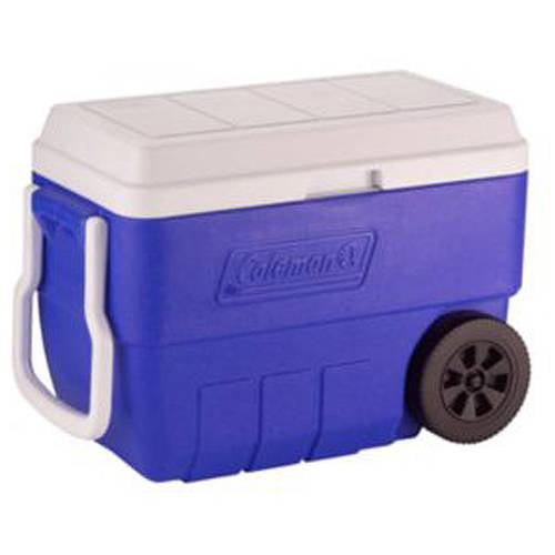 Coleman 56-Quart Wheeled Cooler, Blue