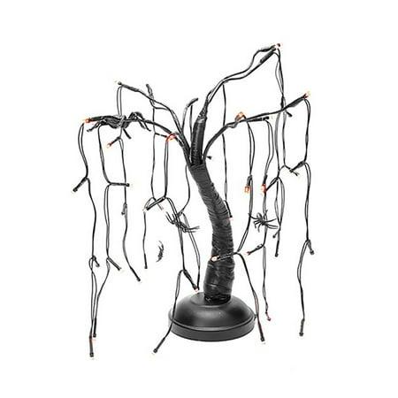 Black Halloween Tree Target (15 Inch Battery Operated LED Spiders on Purple Tree Halloween Indoor)
