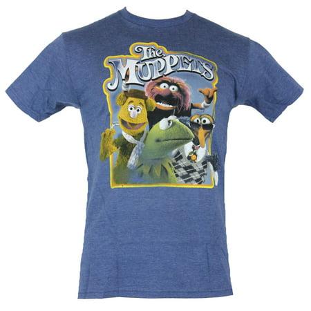 Muppets Animal Hoodie (The Muppets Mens T-Shirt - Photorealistic Kermit Fonzie Gonzo Animal Box)