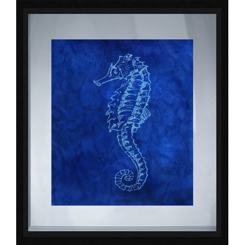 PTM Images Coastal Seahorse Framed Graphic Art
