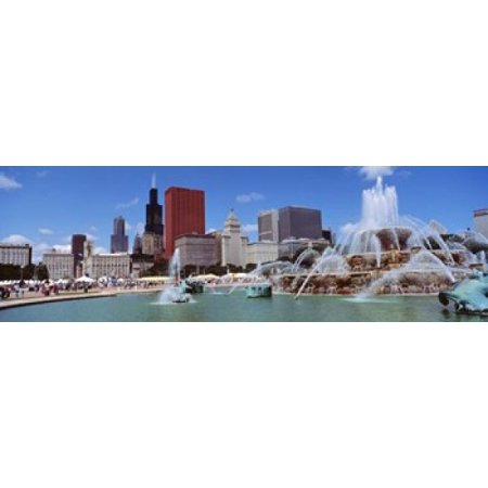 Summer Chicago Illinois USA Poster Print