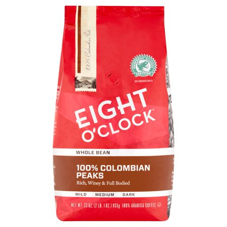 Eight OClock 100% Colombian Peaks Whole Bean Coffee 33 Oz. Bag