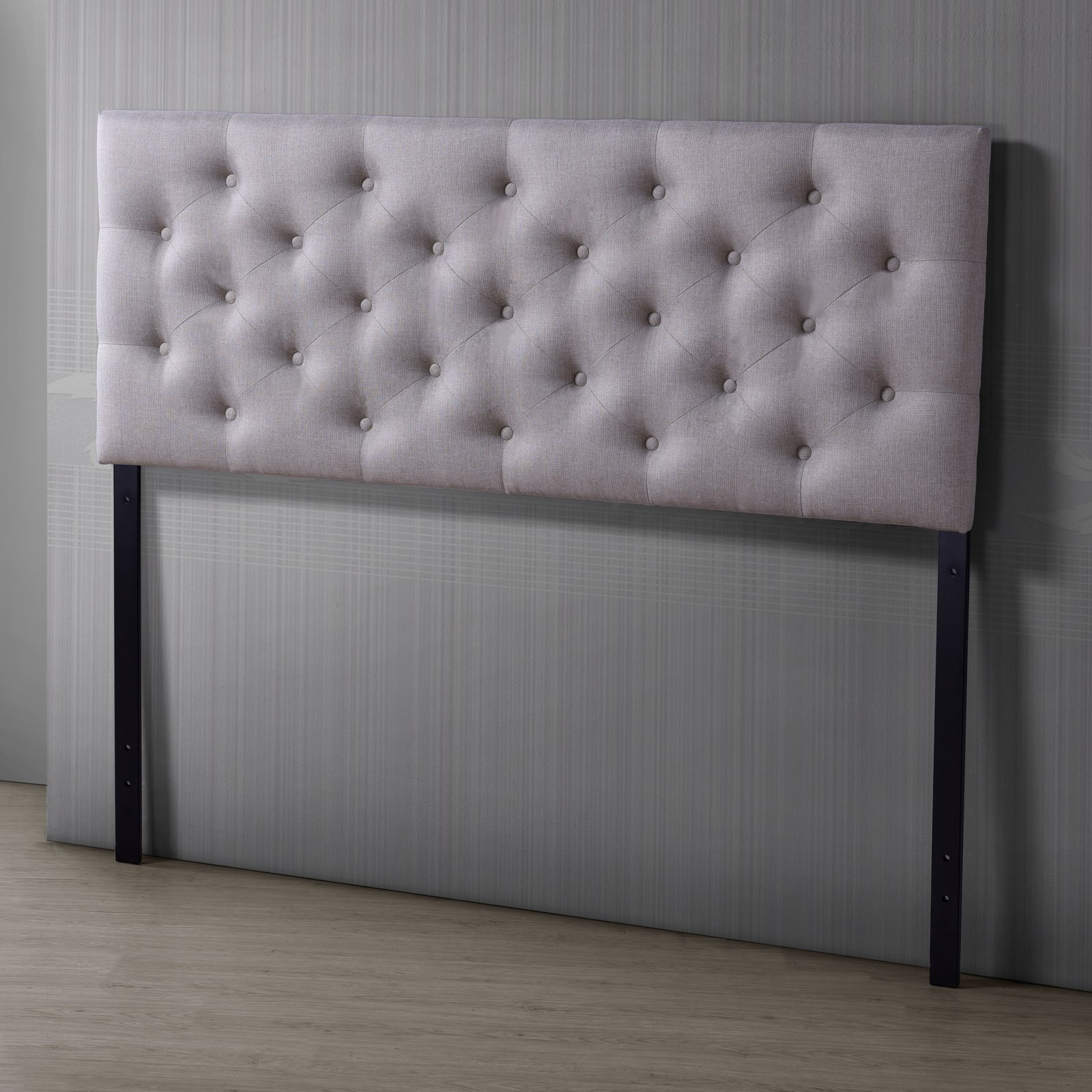 Baxton Studio Viviana Modern and Contemporary Fabric Upholstered Button-Tufted Full Size Headboard, Multiple Sizes and... by Wholesale Interiors
