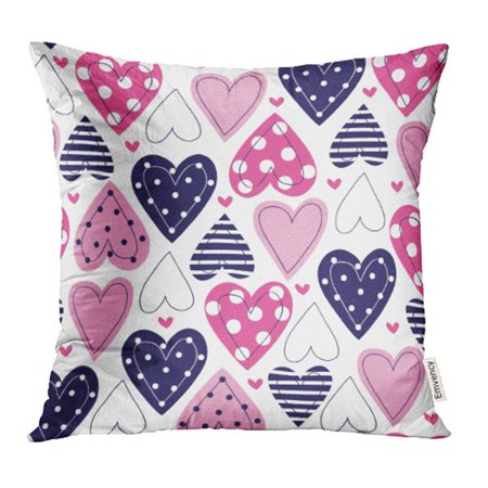 ARHOME Fun Vintage Love Heart in Pretty Colors Great for Baby Announcement Valentine's Day Wedding Pillowcase Cushion Cover 18x18 inch - Pretty Wedding Colors
