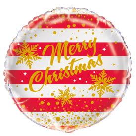 "18"" Foil Gold Sparkle Christmas Balloon"