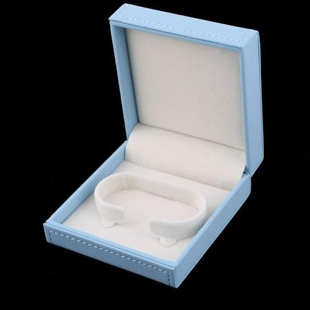 Birthday Gift Bracelet Bangle Jewelry Display Storing Storage Box Light Blue - image 2 de 4