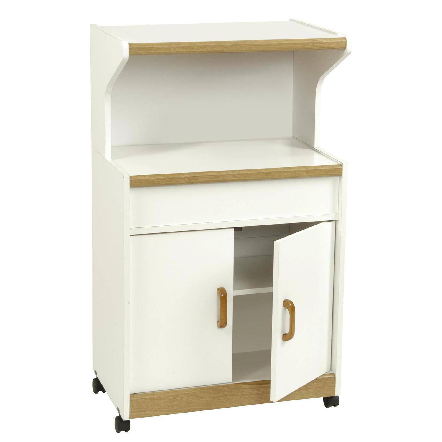 Microwave Furniture Cabinet Microwave Cabinet With Shelves White Walmartcom