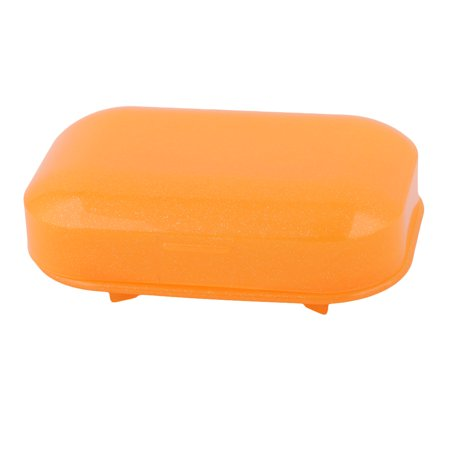 Bathroom Plastic Shower Washing Soap Holder Storage Container Box Case Orange