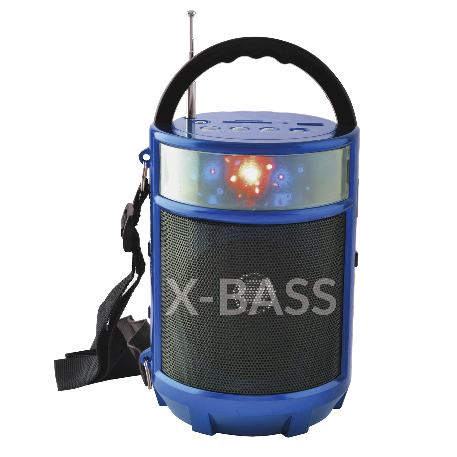 "X-Bass Portable Bluetooth FM Radio with LED Light Lantern - 4"" x 4"" x 6"""