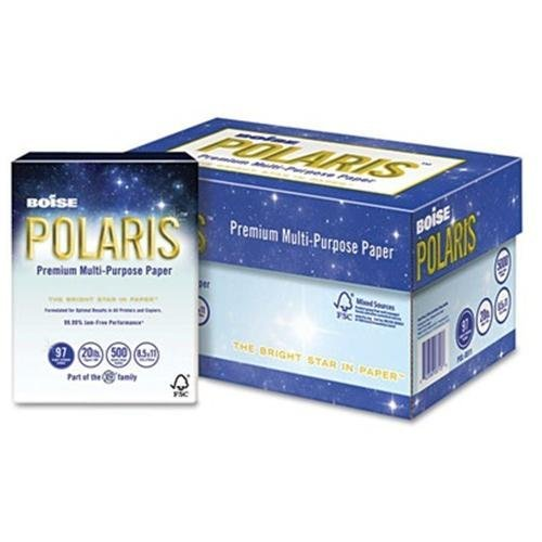 "Boise POLARIS Copy Paper, 8-1/2"" x 14"", White, 5,000 Sheets/Carton"
