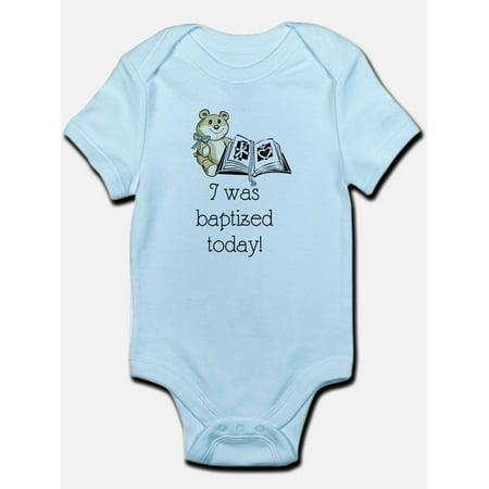 CafePress - I Was Baptized Today! (Boy) Infant Bodysuit - Baby Light (Best Baptism Gifts For Baby Boy)
