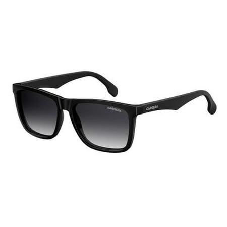 Carrera Men's Ca5041s Rectangular Sunglasses, Black/Dark Gray Gradient, 56 mm (Carrera Sunglasses Men 56)