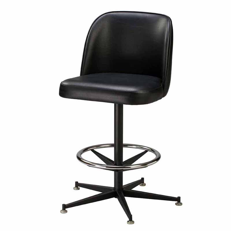 Regal Bucket Seat Large 30 in. Rod Frame Metal Bar Stool