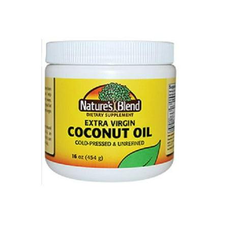 Coconut Medicine (Nature's Blend Extra Virgin Coconut Oil, 16oz 079854093513A1112 )