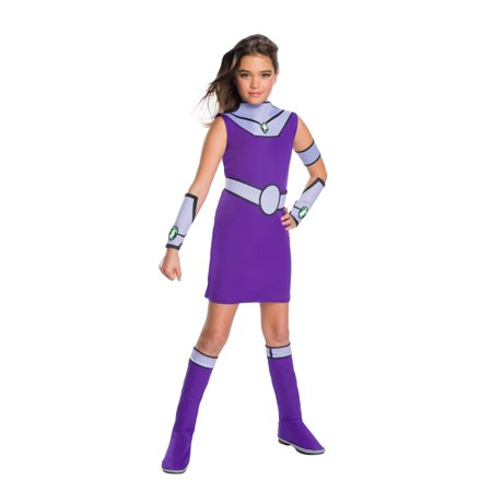 Teen Titan Go Movie Girls Starfire Deluxe Halloween Costume (Go Costumes)