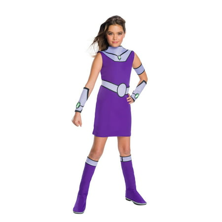 Teen Titan Go Movie Girls Starfire Deluxe Halloween Costume - Robin Costume For Teen Girls