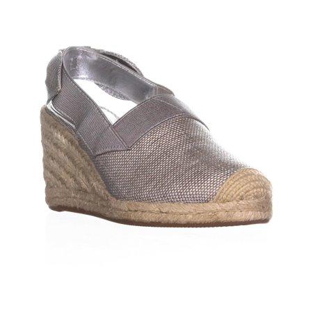 3af4045d11e Womens Lauren Ralph Lauren Helma Espadrille Wedge Sandals, Silver