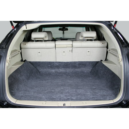 Auto Drive Cargo Liner Floor Mat Waterproof Upholstery Protection- Universal Trim to Fit Non-Fray Material for Car, SUV, Van, (Clear Exactmat Cargo Liner)