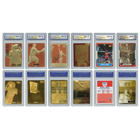 Greatest Halloween Card Ever (The 6 Greatest MICHAEL JORDAN Fleer Cards Ever Assembled all Graded Gem-Mint)