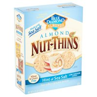 Blue Diamond Almonds Nut-Thins Almond Hint of Sea Salt Nut & Rice Cracker Snacks, 4.25 oz
