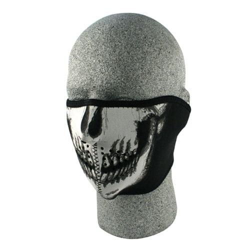 Zan Headgear Neoprene 1 2 Face Mask, Skull Face by Zan Headgear