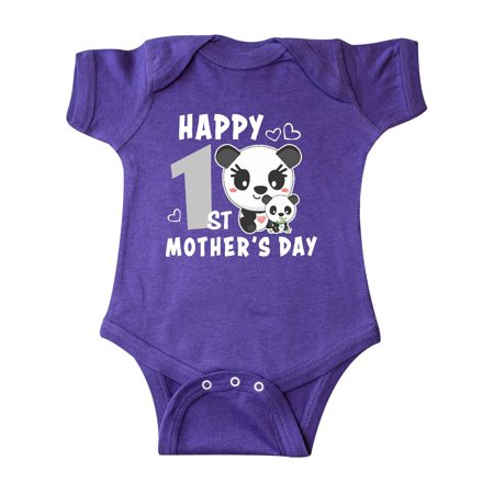Happy First Mothers Day with Panda Bears Infant Creeper