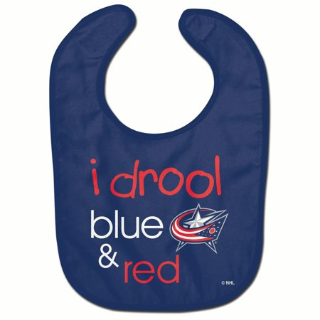 Columbus Blue Jackets Official NHL Infnat One Size Baby Bib by McArthur (Mcarthur Square)
