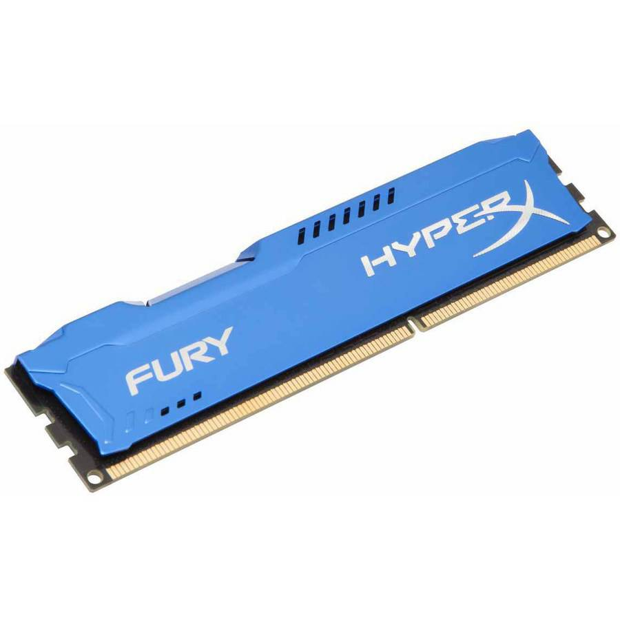 Kingston 8GB 1600MHz DDR3 Non-ECC CL10 DIMM HyperX FURY Blue Series Memory Module