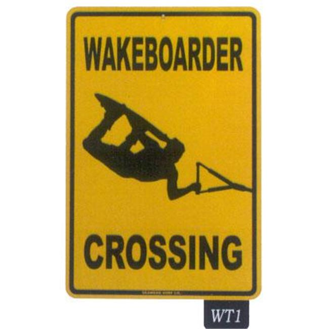 Seaweed Surf Co WT1 12X18 Aluminum Sign Wake Boader Crossing