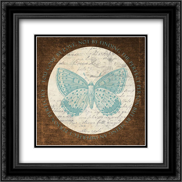 Love Butterfly 2 2x Matted 20x20 Black Ornate Framed Art Print by Greene, Taylor