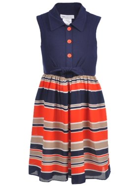 e57daf124 Blue Big Girls Casual Dresses - Walmart.com