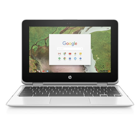 "HP Chromebook 11 X360, 11.6"" Corning Gorilla Glass Touchscreen Display, Intel Celeron N3350, Intel HD Graphics 500, 64GB eMMC, 4GB SDRAM, Snow White, 11-ae051wm"