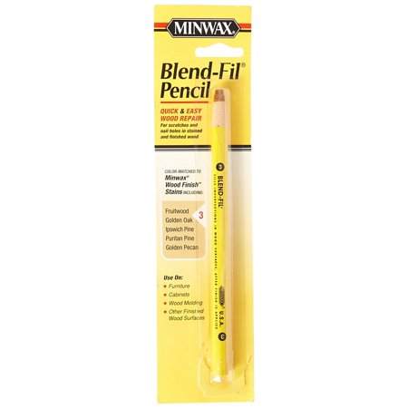 Birch Stain - 110036666 No 3 Blend Fil Wood Repair Stain Pencil, Natural Birch, Mineral spirits or paint thinner following manufacturer's safety instructions By Minwax
