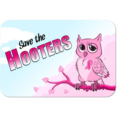 Breast Cancer Decor (Save the Hooters - Owl Breast Cancer Awareness Pink Ribbon)
