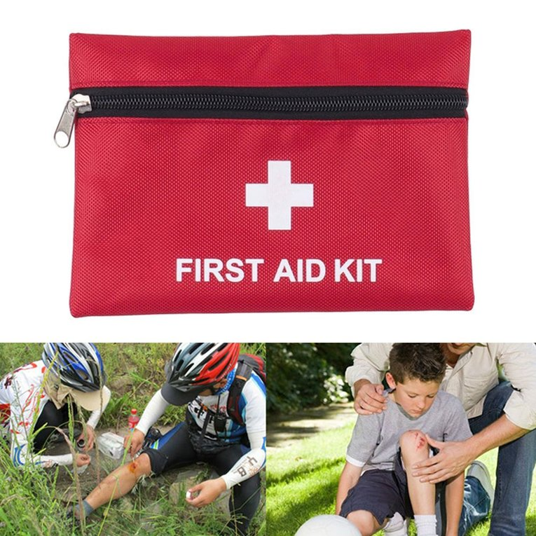 First Aid Kit+Warning Tripod+Safety Vest Car Safety For Roadside Emergencies by