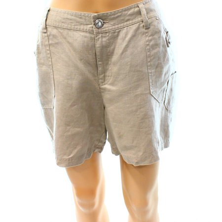 INC NEW Beige Frappe Size 8 Women's Seamed Jewel Solid Linen Shorts](New Halloween Frappe)