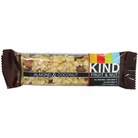 - 2 Pack - Kind Fruit & Nut Bar, 1.4 oz bars,  Almond & Coconut 12 bars
