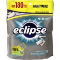 Eclipse Polar Ice Sugarfree Gum, 180 Piece Bag