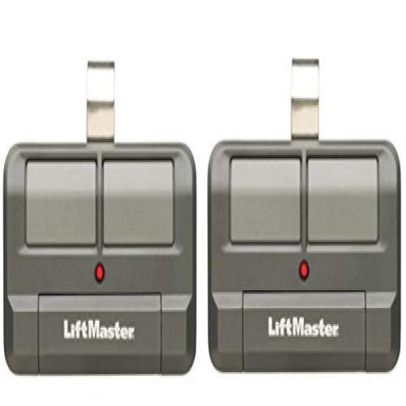 Lot of 2 LiftMaster 892LT 2 Button Visor Learning Garage Door Remote