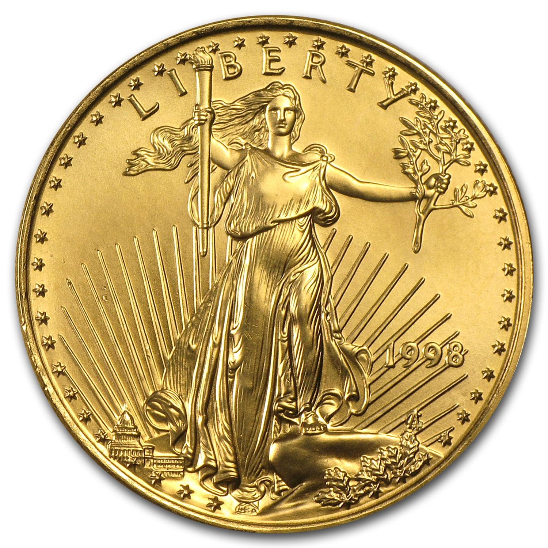 1998 1/2 oz Gold American Eagle BU